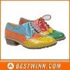 2012 Bright Colorful fashional lady laced oxford shoes