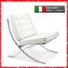 white italian leather Barcelona Chair