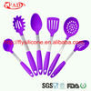 6 piece professional silicone bbq tools ,non-stick metal handle