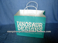 WHOLESALE LARGE QUANTITY GREEN KRAFT PAPER BAGS WITH TWISTED HANDLES
