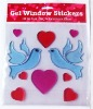 peace bird gel sticker