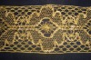 gold lace, gold lace trim, lace fabric, garment accessory, batten lace
