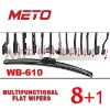 Multifunctional flat wiper blade 610