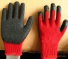 PVC palm coated work gloves