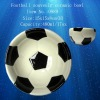 Football souvenir double bottom ceramic bowl