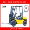 3T double forks forklift with ce