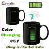 Battery Heat Sensitive Temperature Color Changing Mug Coffee Tea Cup