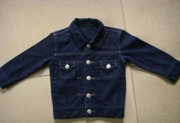 baby knit denim jacket