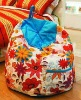 100% cotton fabric breathable beanbag