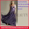 2012 popular purple chiffon halter top empire corset maternity prom dresses