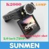 K2000 car DVR black box max to 32GB