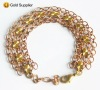 handmade with gold plated bracelet chain charming jewelry