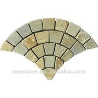 Natural random shapes slate meshwork and crazy pavings stone.