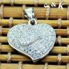SKP0108-2.3G micro pave silver cz pendant,fashion jewelry