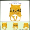 cute gold baby tiger knitted earflap beanie cap hat ccap-0554