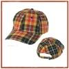 tartan designer baseball caps women