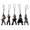 3D soft pvc mobile phone strap