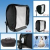 Fold hot shoe soft box