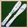 Big size plastic white color cream cosmetic spatula
