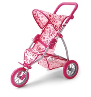 2012 Hot Selling Doll Three Wheels Stroller/Doll jogger (9354)
