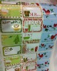 Rolled paper christmas graphic gift stickers Holiday labels