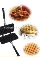 Die cast alumium waffle maker cake pan in square shape