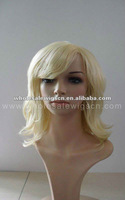 100% kanekalon Blonde synthetic lace front wigs