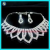 Fashion clear rhinestone necklace sets jewelry