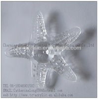 factory directly 2012 new design acrylic acrystal star fish animal figurine