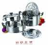 Premier Housewares Stainless Steel Multi Steamer with metal Lid and Capsule Base