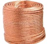 golden color copper wire rope