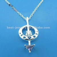 silver crystal pendant store, silver crystal pendant shop, online 925 silver pendant shop