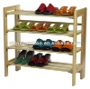 wooden shoe rack, stackable, folded