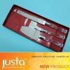 3pcs transparent handlekitchen Knife Set