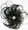 Beautiful synthetic black hair bun pieces