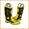 Fire protective boots/ safety boots/ steel toe/ rubber boots/ fireman boots/ fire fighting shoes