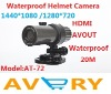 New Arrival Fashionable HD 1080P 20M Waterproof Sports Helmet Camera With 120 Degree Angle, TV-OUT And HDMI