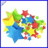 2012 hot selling custom star shapes foam puffy sticker