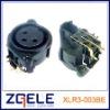 3 pins Audio Connector (XLR3-003BE)