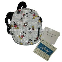 white mickey printing wallet with braces