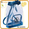2012 promotion drawstring clear pvc backpack