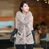 wholesale winter rabbit fur coat / jacket 2012