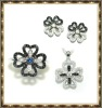 2012 new fashion micro pave setting 925 silver jewelry sets
