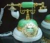 antique resin,man-made  jade telephone
