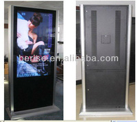 72 inch kiosk advertising player,surporting internet wifi system,waterproof and dustproof casing.