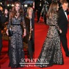 Custom made Kate middleton V-neck Long sleeves Black lace evening Gown Celebrity dresses