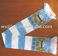 stripped knitting jacquard fan scarf 2011