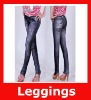 Fashion Printed Seamless Fake Jeans Stretch Summer Women Legging