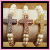 Y898 fashion wholesale cross bracelet,diamond cross bracelet