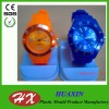 2013American hot-selling eco-friendly silicone band plastic case lover watch